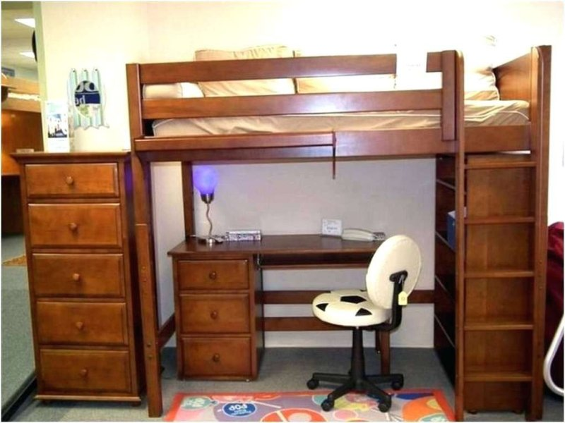 Picture of: Dylan Twin Loft Bed With Storage And Desk