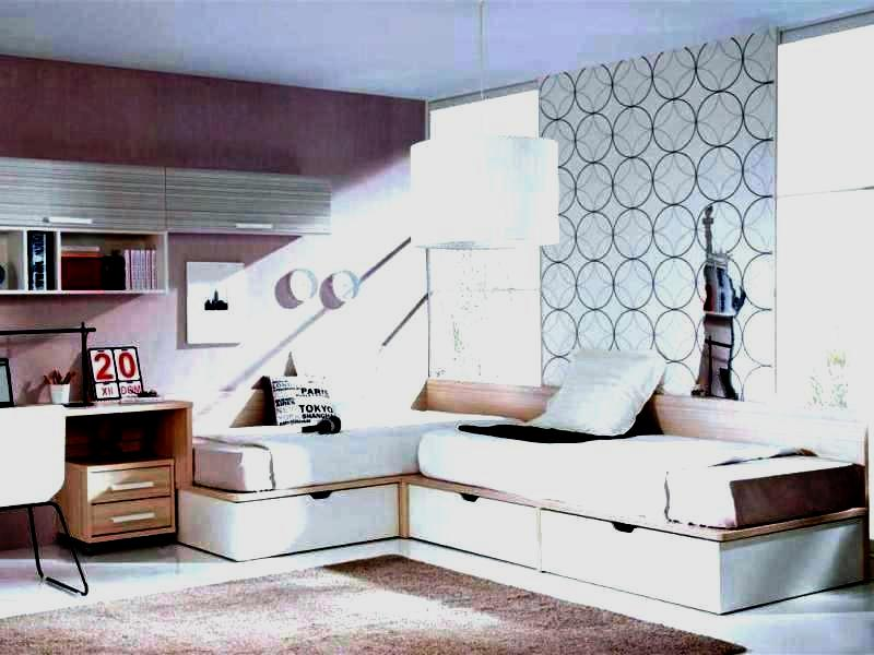 Image of: Elegant Corner Twin Beds with Storage