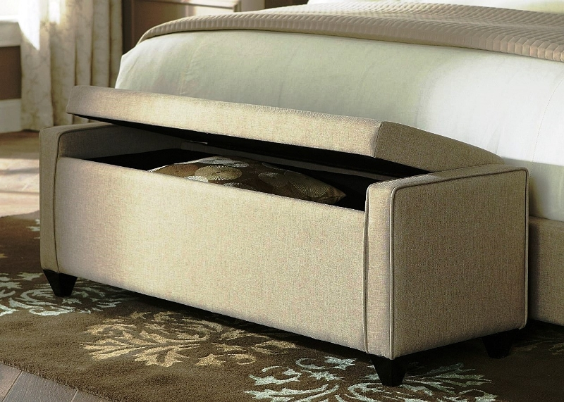 Image of: End Of The Bed Storage Ottoman Bench