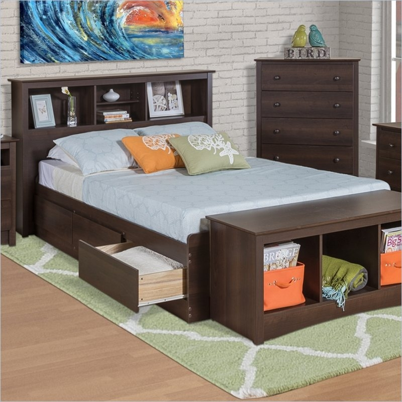 Espresso Xl Twin Bed with Storage