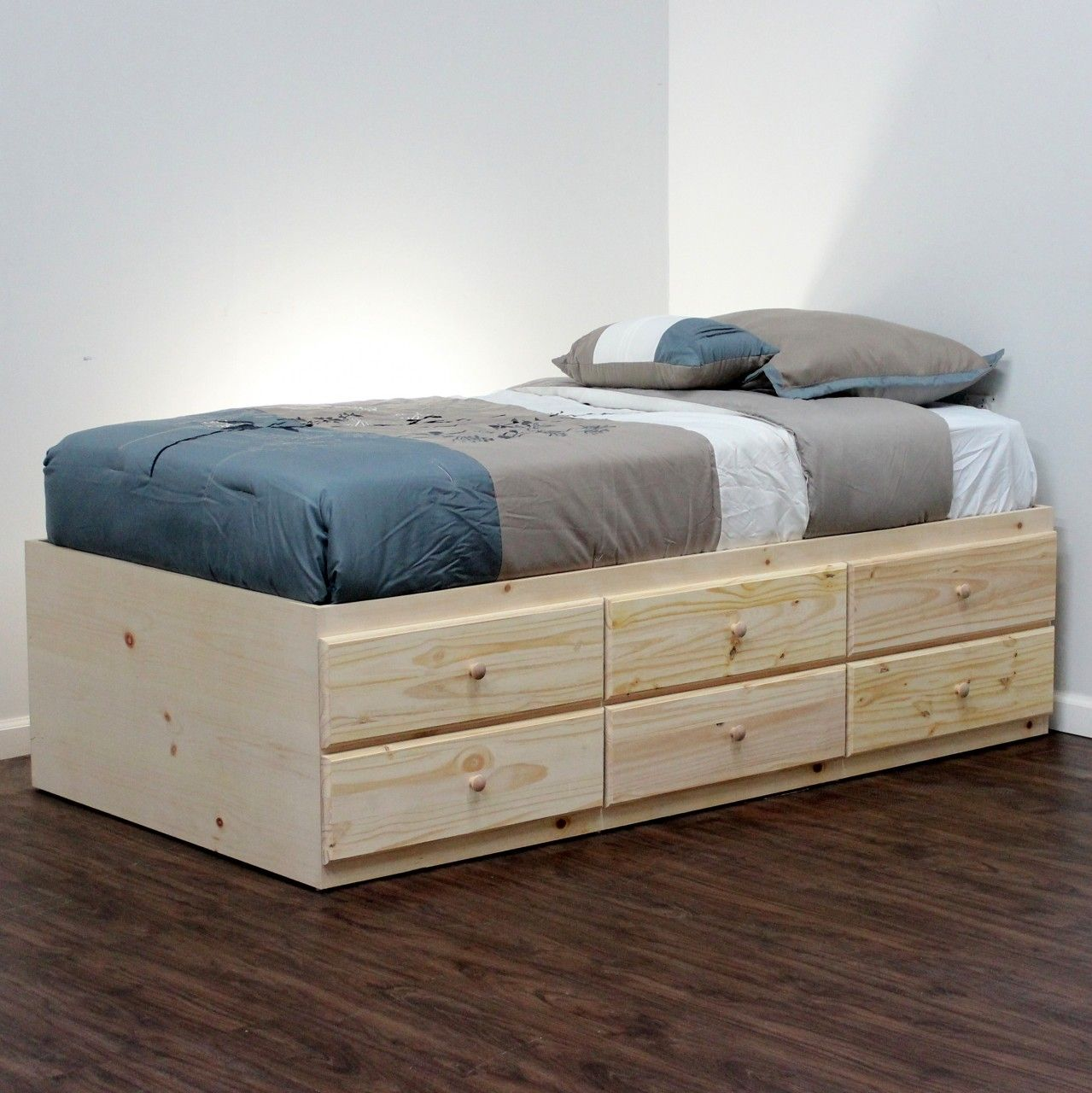 Picture of: Extra Long Twin Storage Bed