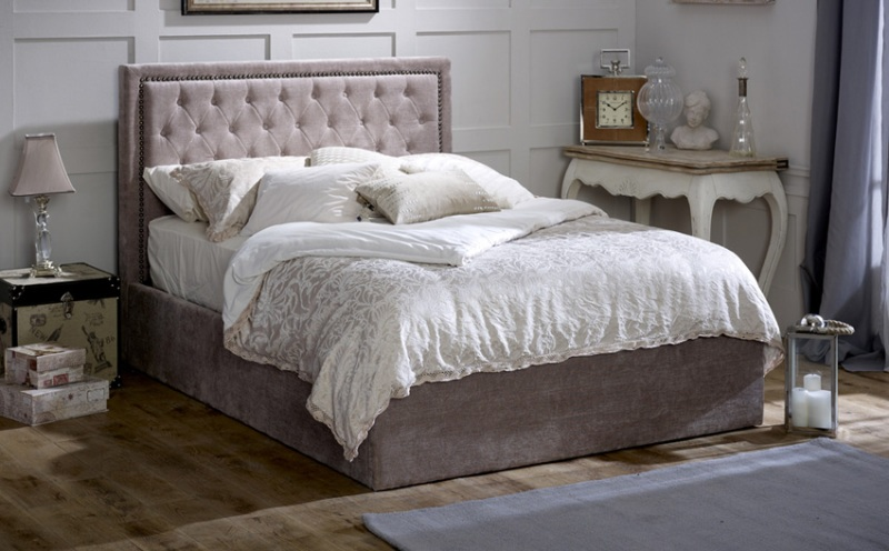 Picture of: Fabric Ottoman Storage Bed