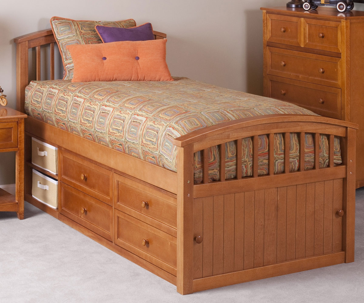 Picture of: Finished Twin Captains Bed With Storage