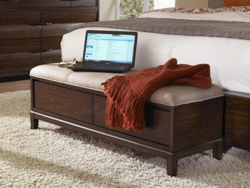 Image of: Foot Of Bed Storage Ottoman