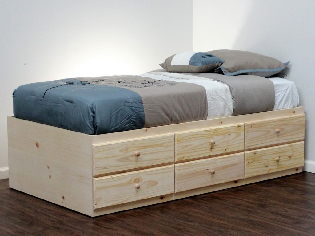 Picture of: Frame Twin Xl Bed With Storage