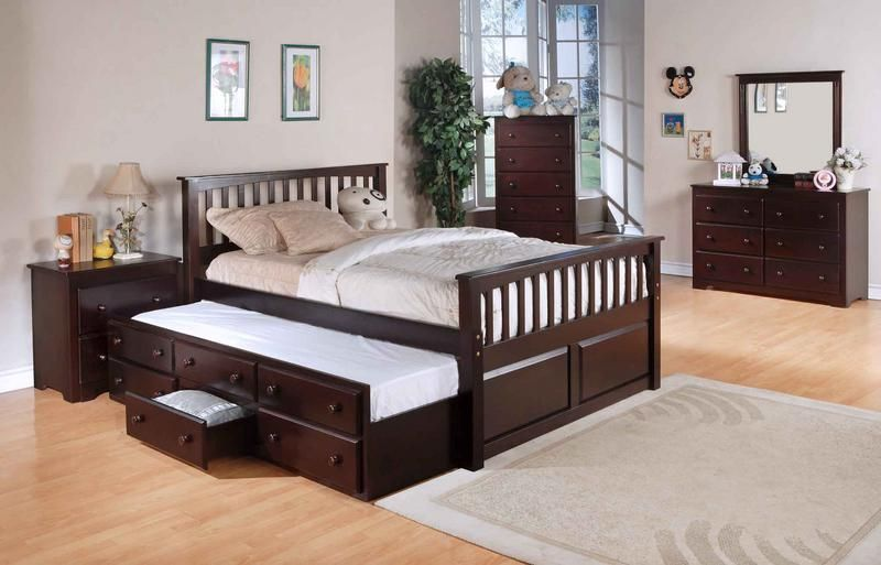 Image of: Full Size Bed With Trundle And Storage
