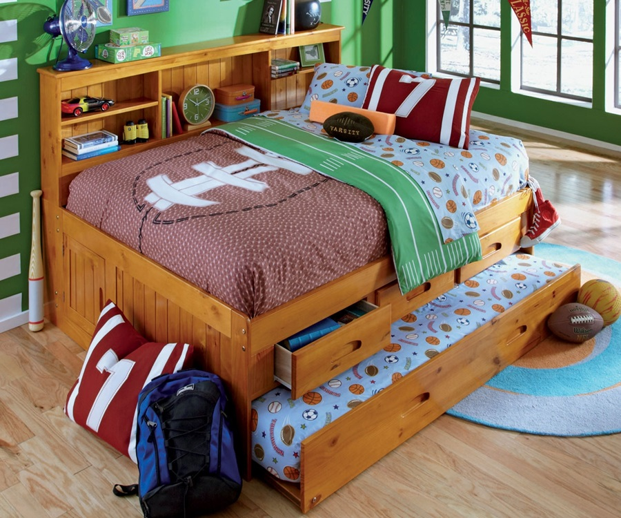 Image of: Full Size Captains Bed With Storage For Boys