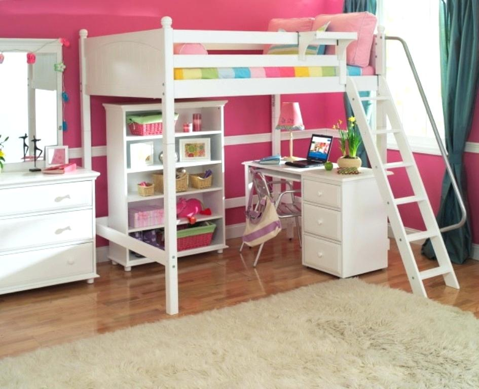 Image of: Full Size Loft Bed with Storage Queen