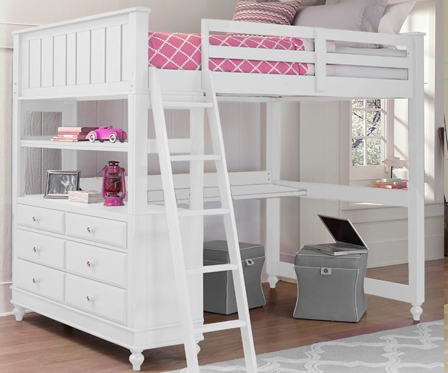 Image of: Full Size Loft Bed with Storage with Storage