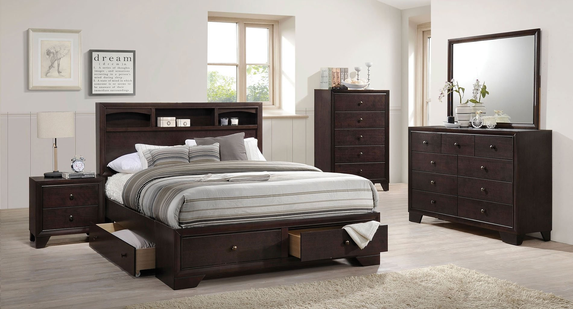 Picture of: Full Size Storage Bed Sets