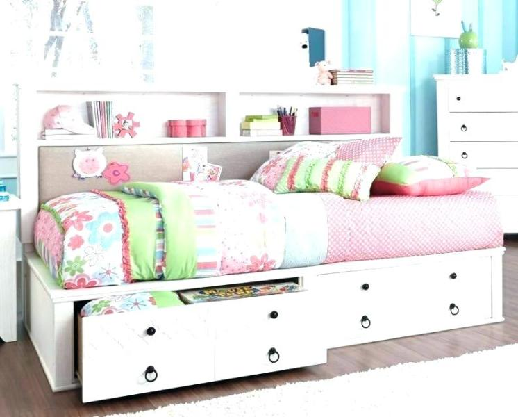 Image of: Full Size Trundle Bed With Storage Drawers