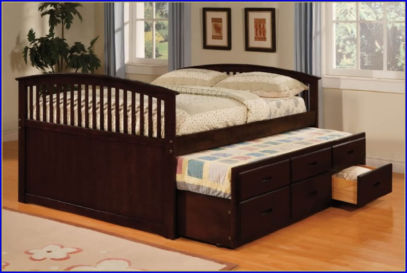 Full Size Trundle Bed With Storage