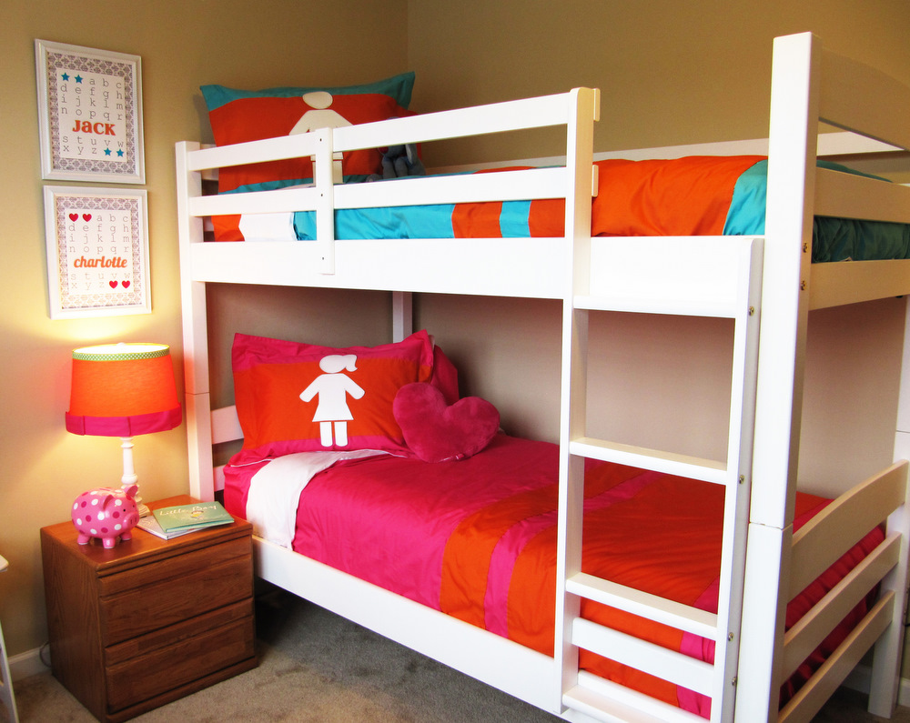 Girl Kids Bunk Beds with Storage