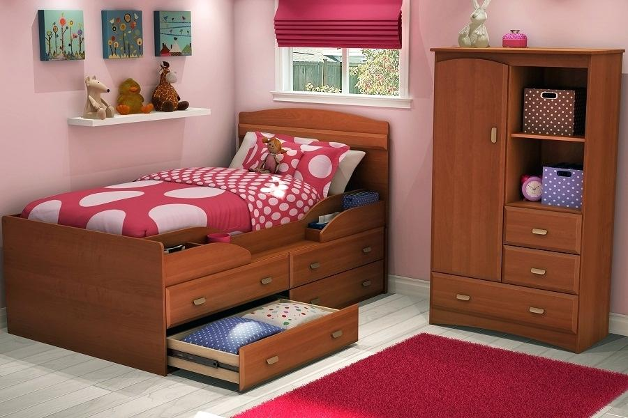 Picture of: Girl Twin Captains Bed With Storage