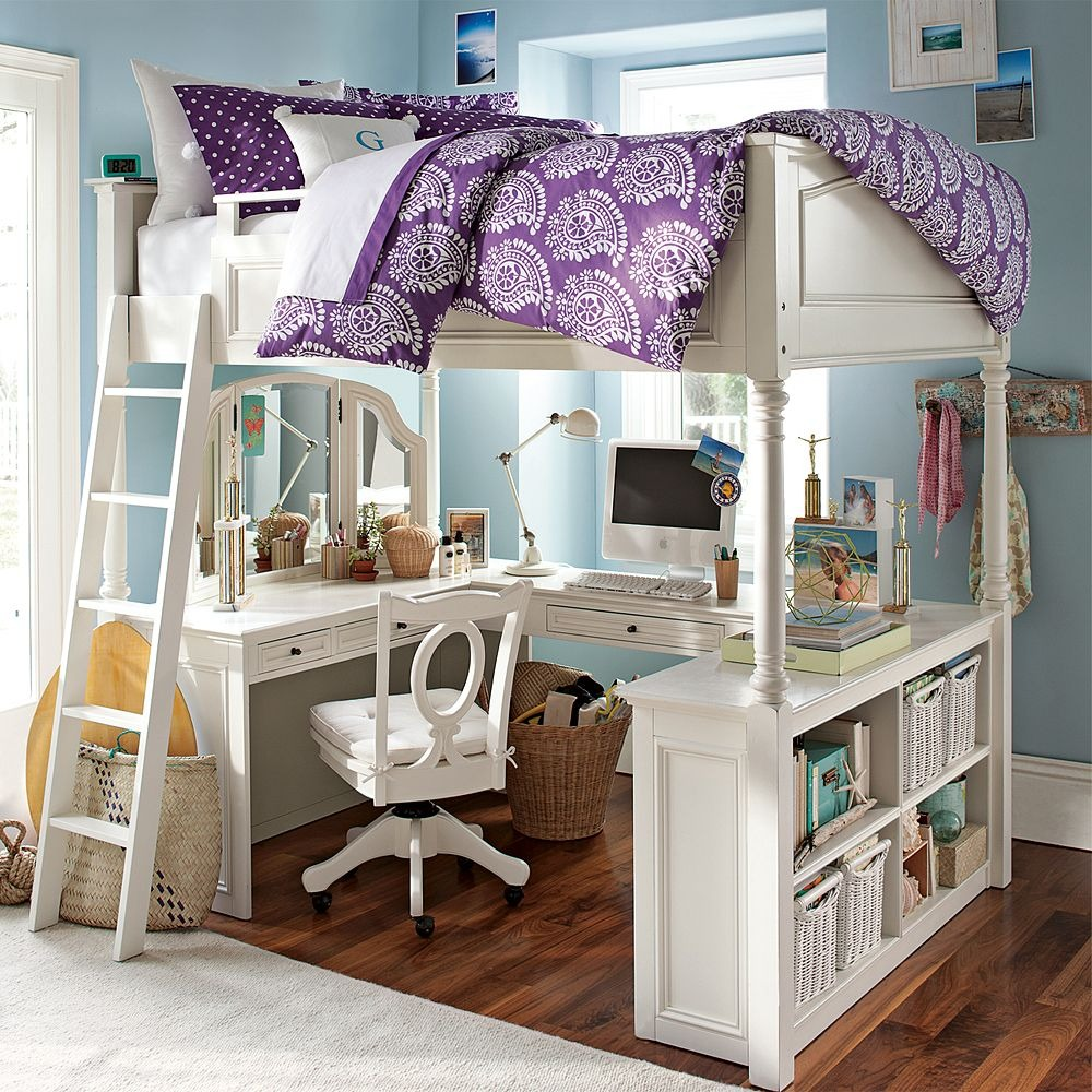 Girls Bunk Beds With Storage and Desk