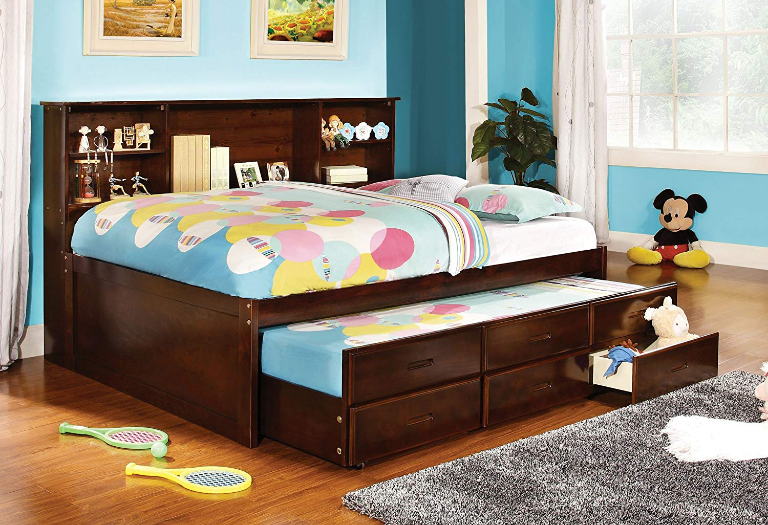 Picture of: Girls Twin Bed With Trundle And Storage