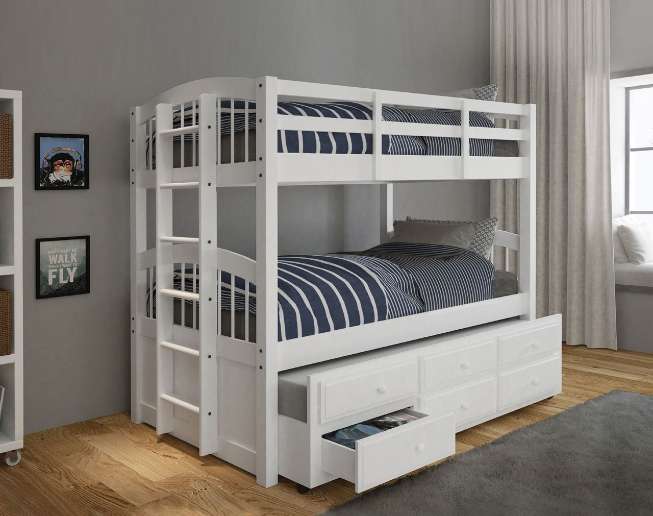 Image of: Good Twin over Twin Bunk Beds with Storage