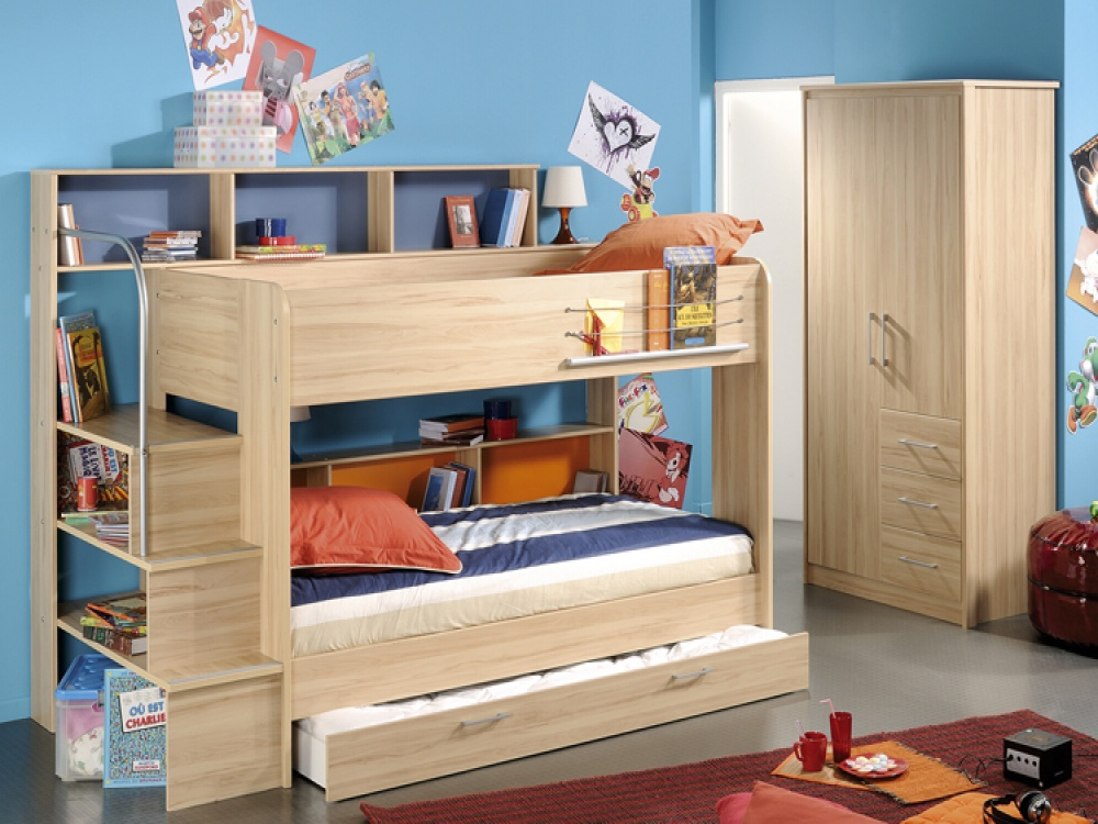 Image of: Gorgeous Storage Bunk Beds