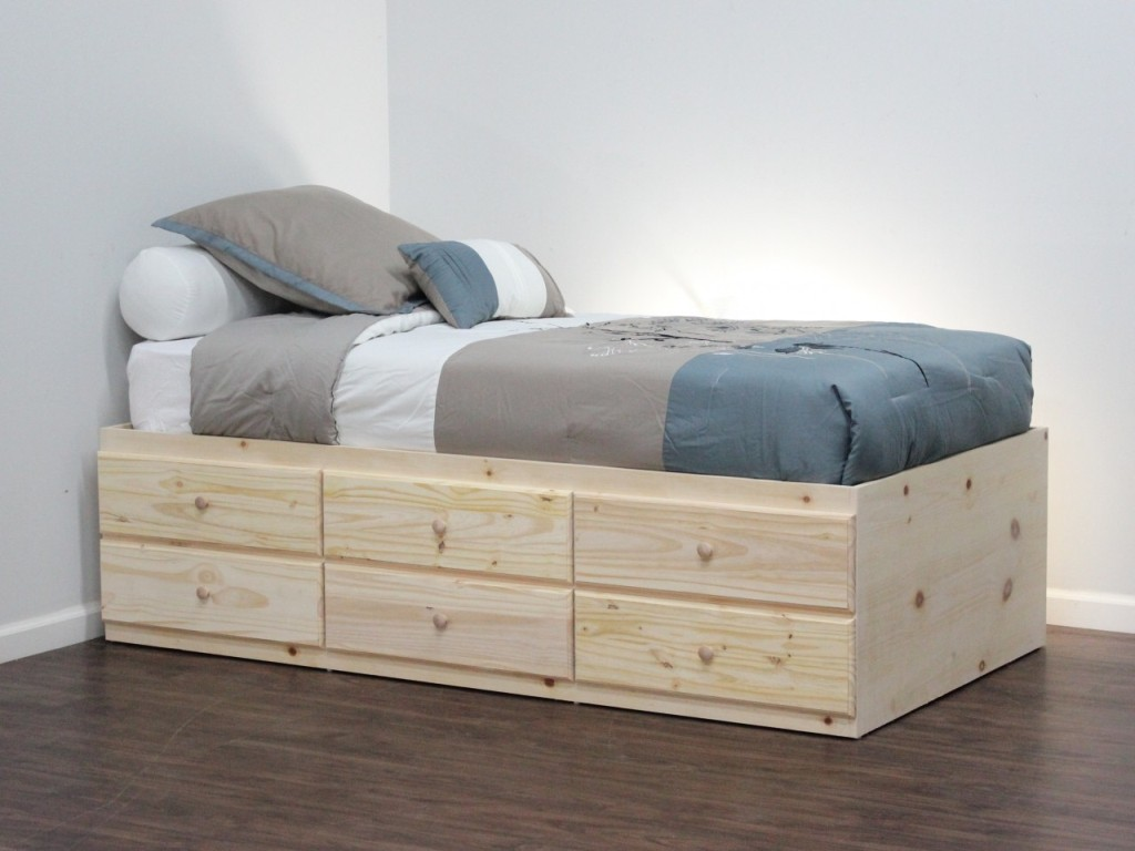 Image of: Great Corner Storage Bed