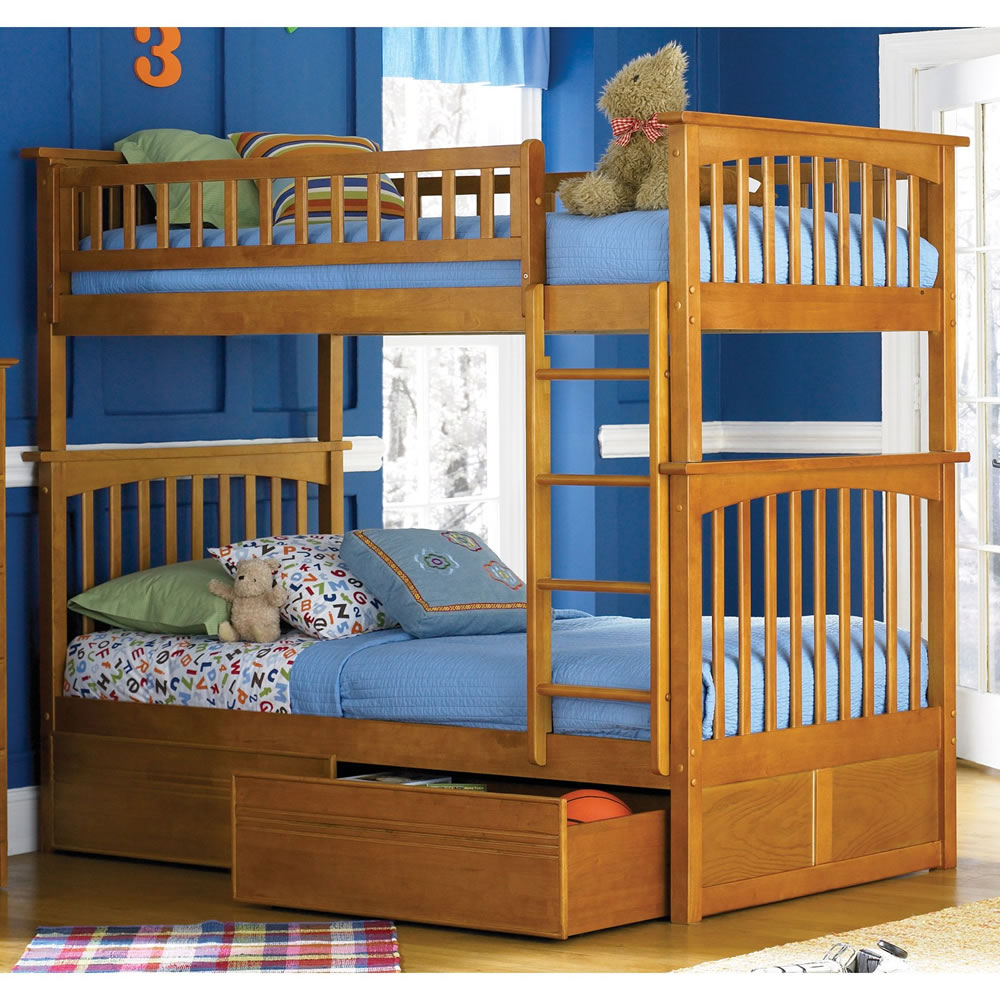 Picture of: Great Twin over Twin Bunk Beds with Storage