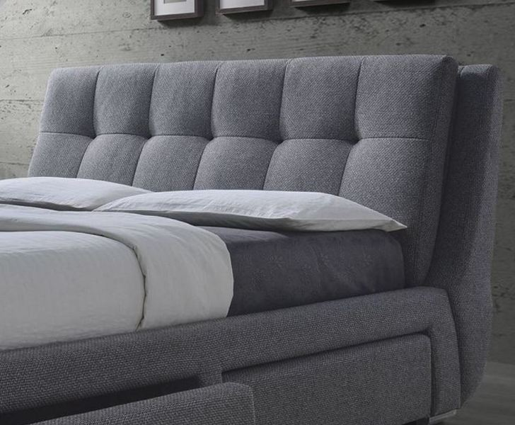 Grey King Size Bed With Storage