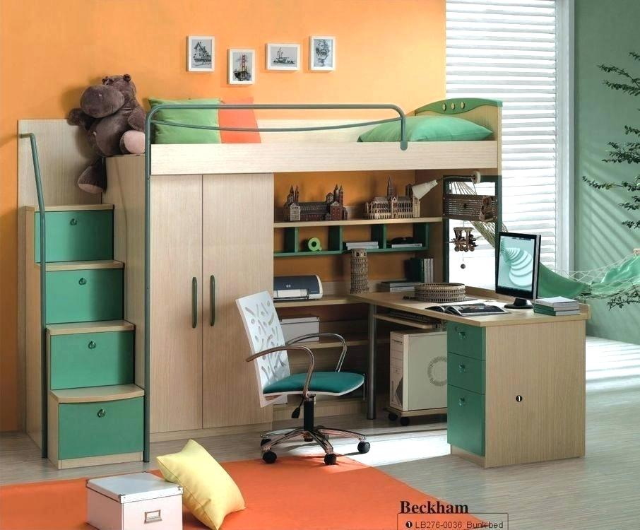 High Full Size Loft Bed with Storage