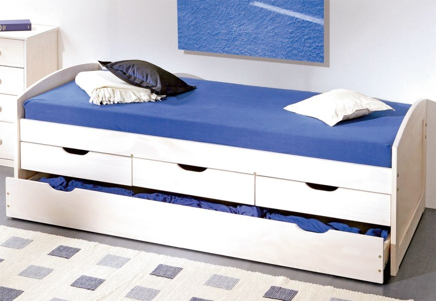 Image of: How to Make a Single Bed with Storage