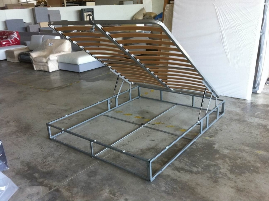 Image of: Hydraulic Lift Storage Bed Frames
