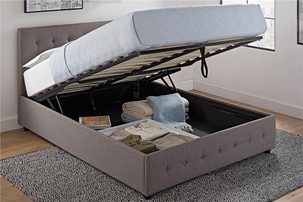 Image of: Hydraulic Lift Storage Bed Furniture