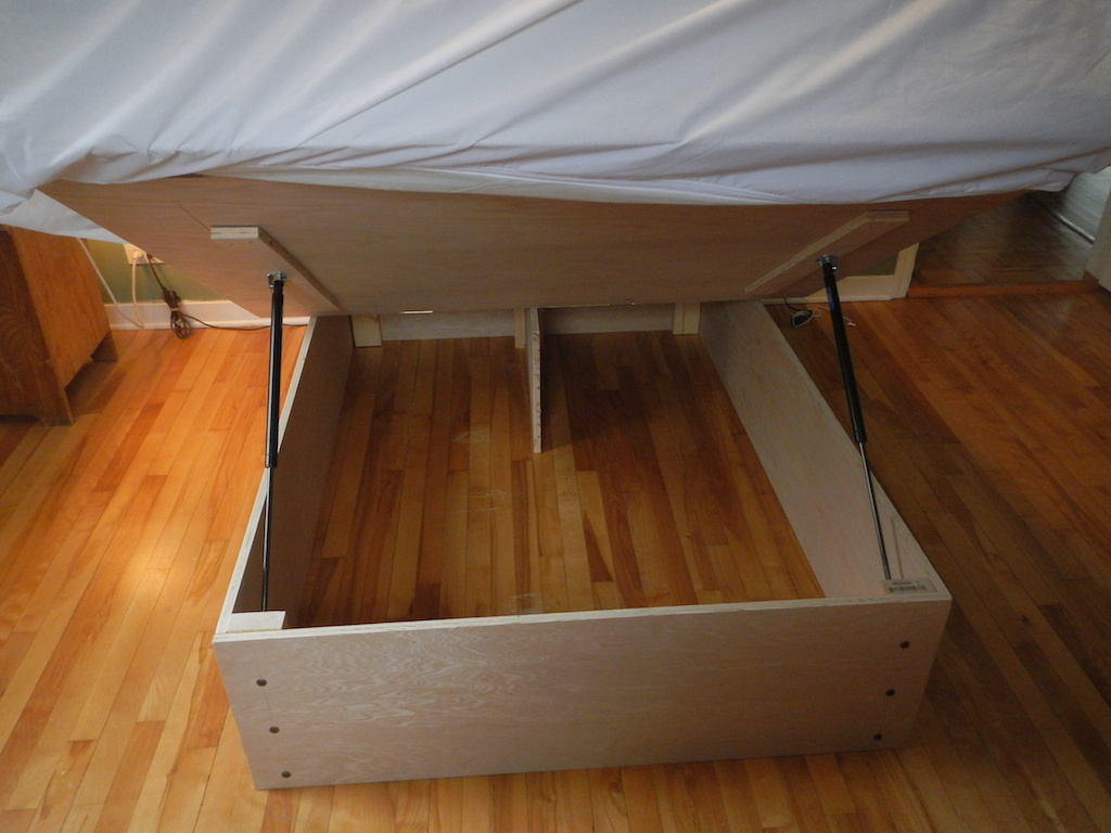 Image of: Hydraulic Lift Storage Bed Popular