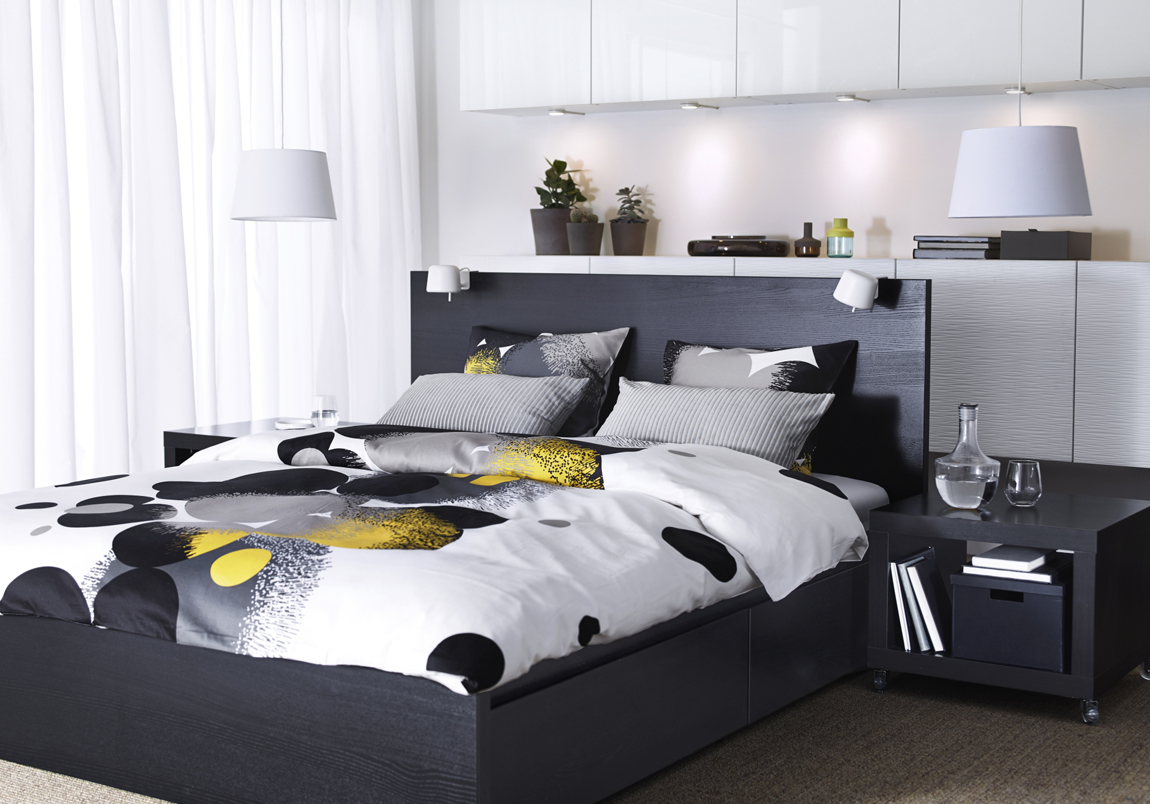 Image of: Ikea Beds With Storage Color