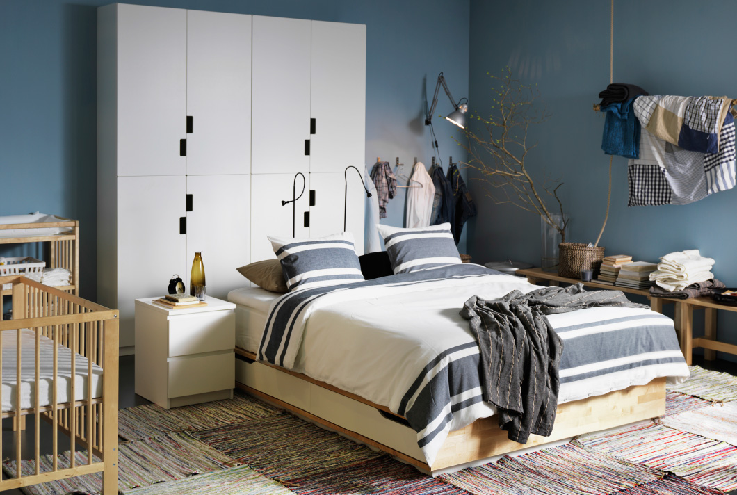 Image of: Ikea Beds With Storage Home
