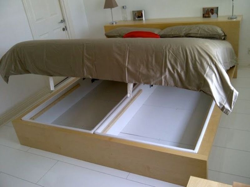 Image of: Ikea Hack Storage Bed King
