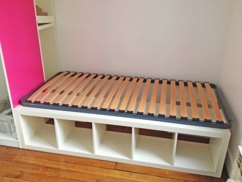 Image of: Ikea Hack Storage Bed Twin