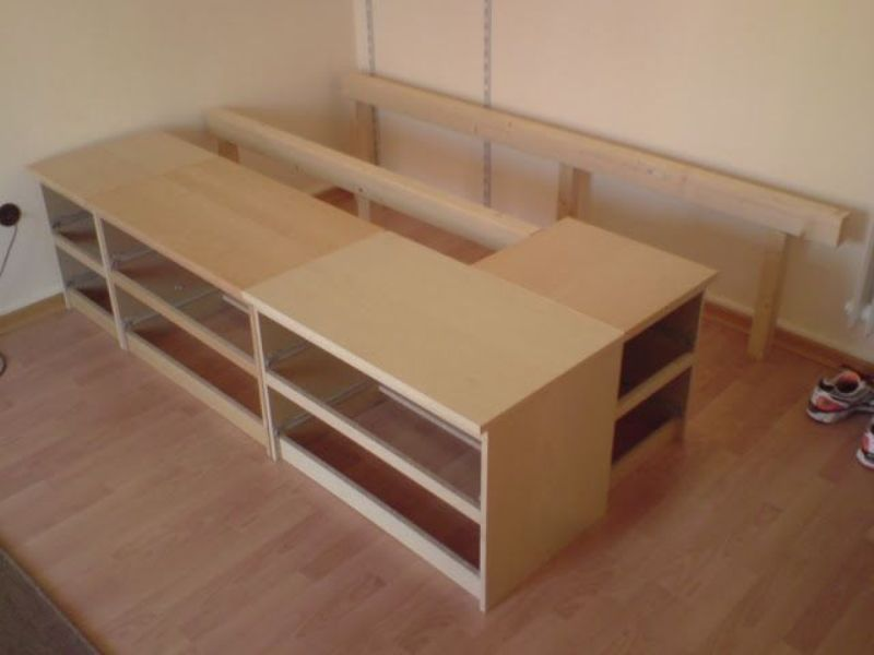 Image of: Ikea Hackers Storage Bed