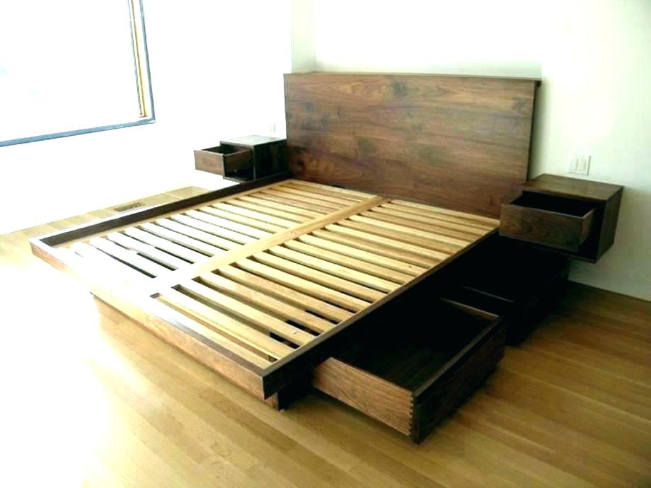 Image of: Ikea Storage Bed Frame DIY