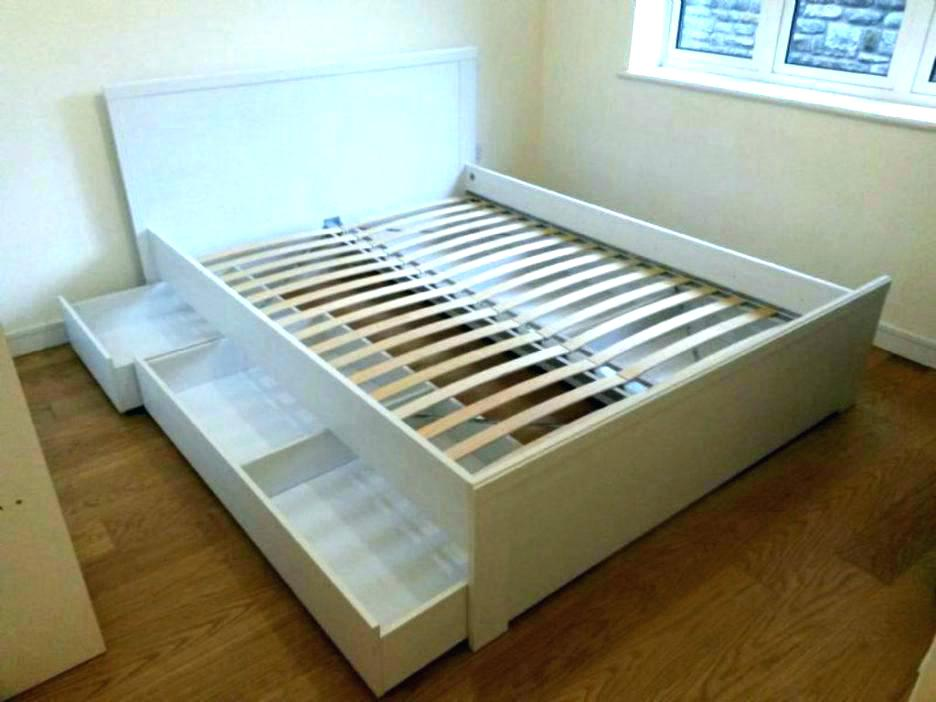 Image of: Ikea Storage Bed Frame King