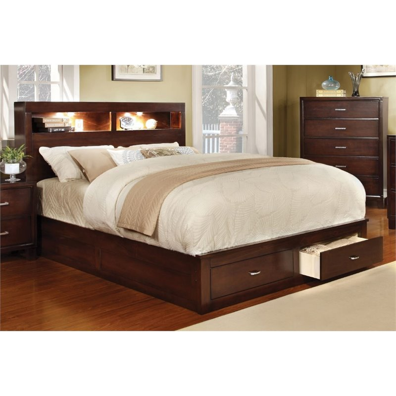 Interest Cal King Storage Bed