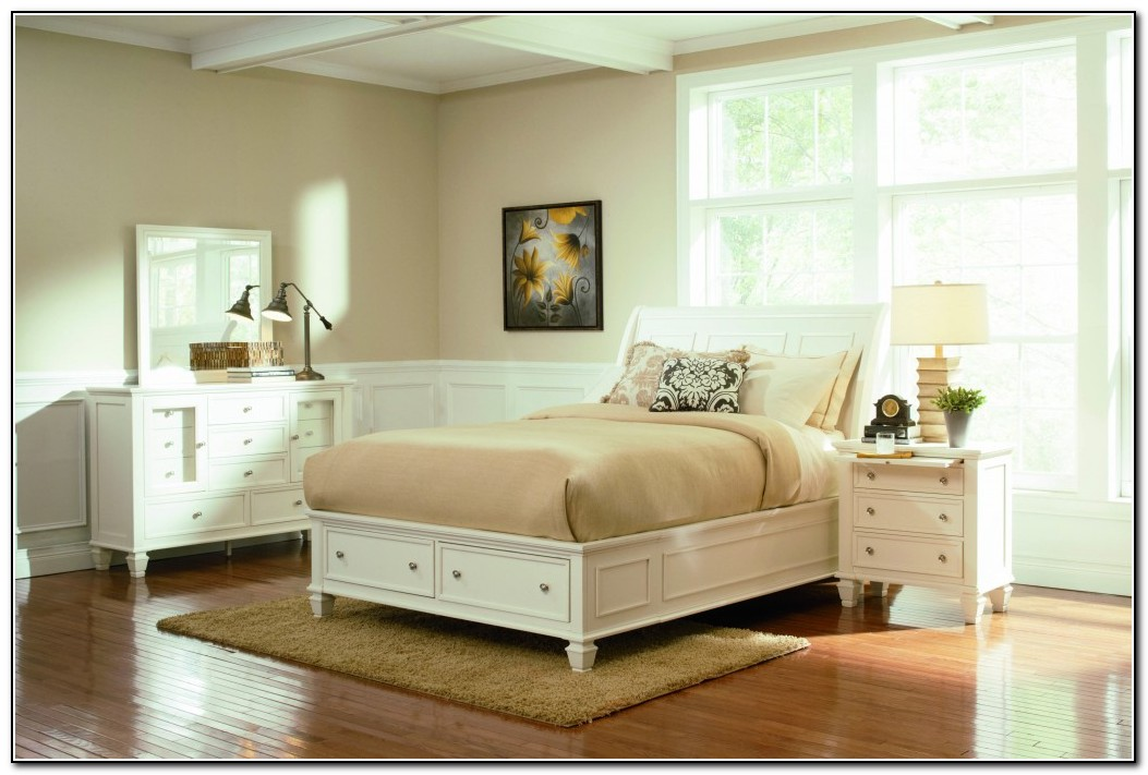 Picture of: Interest White King Storage Bed