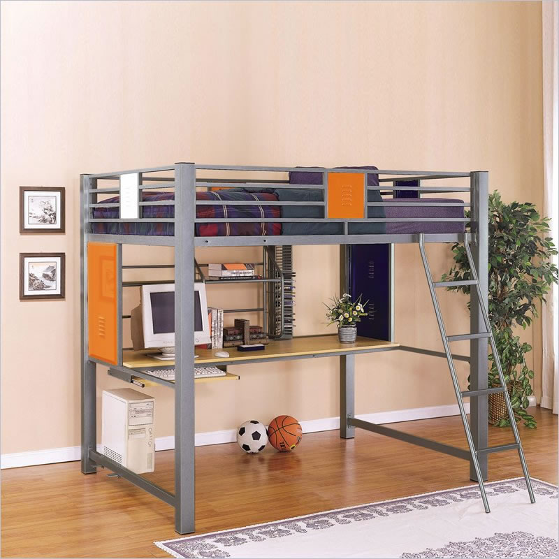 Kids Bunk Beds With Storage and Desk