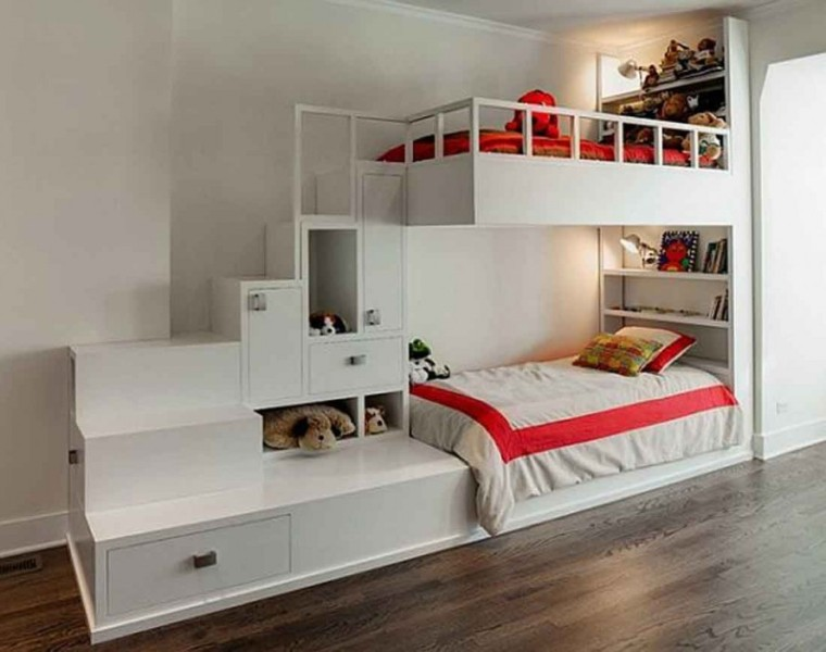 Image of: Kids Bunk Beds With Storage
