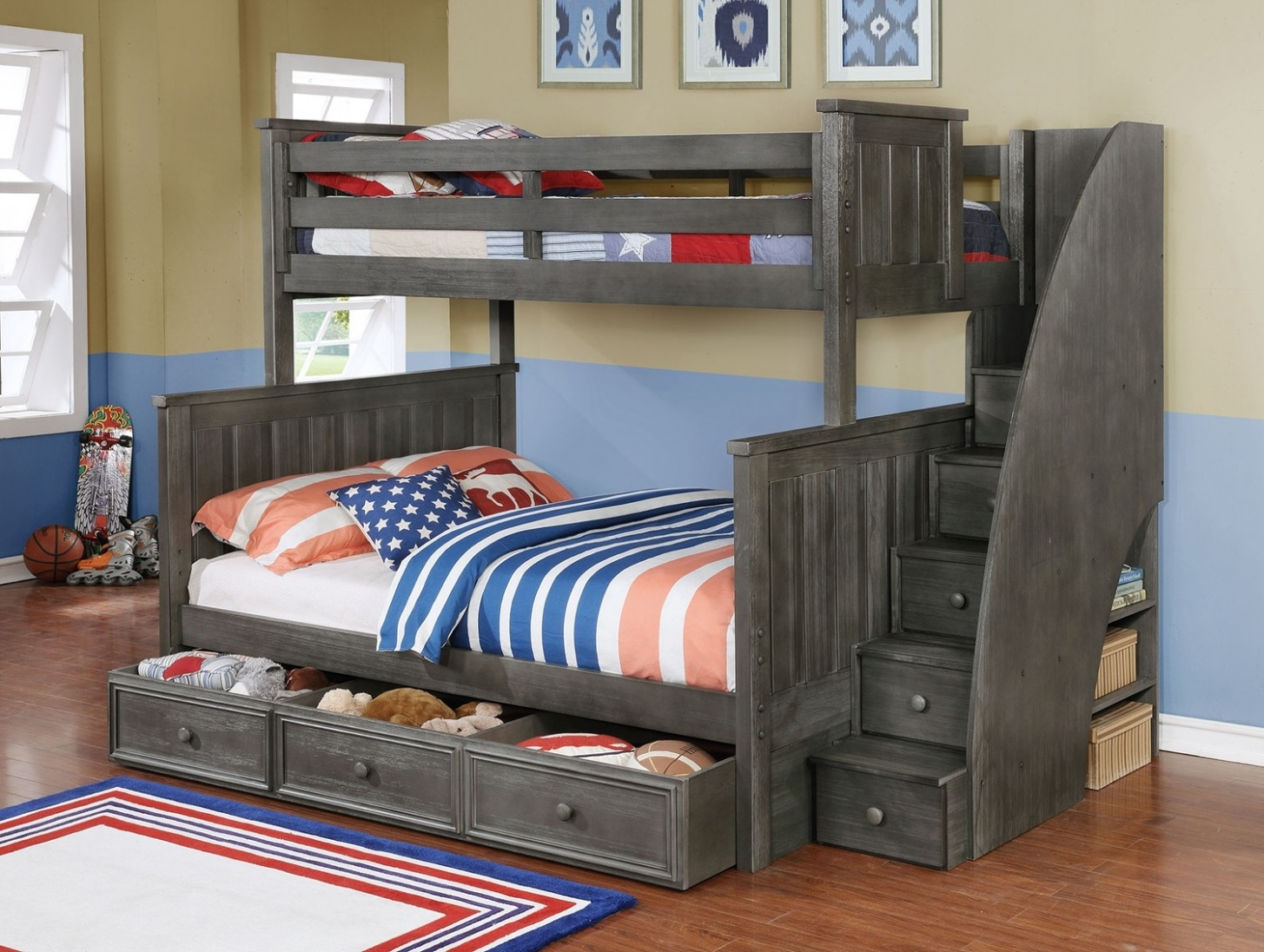 Picture of: Kids Bunk Beds with Storage Color