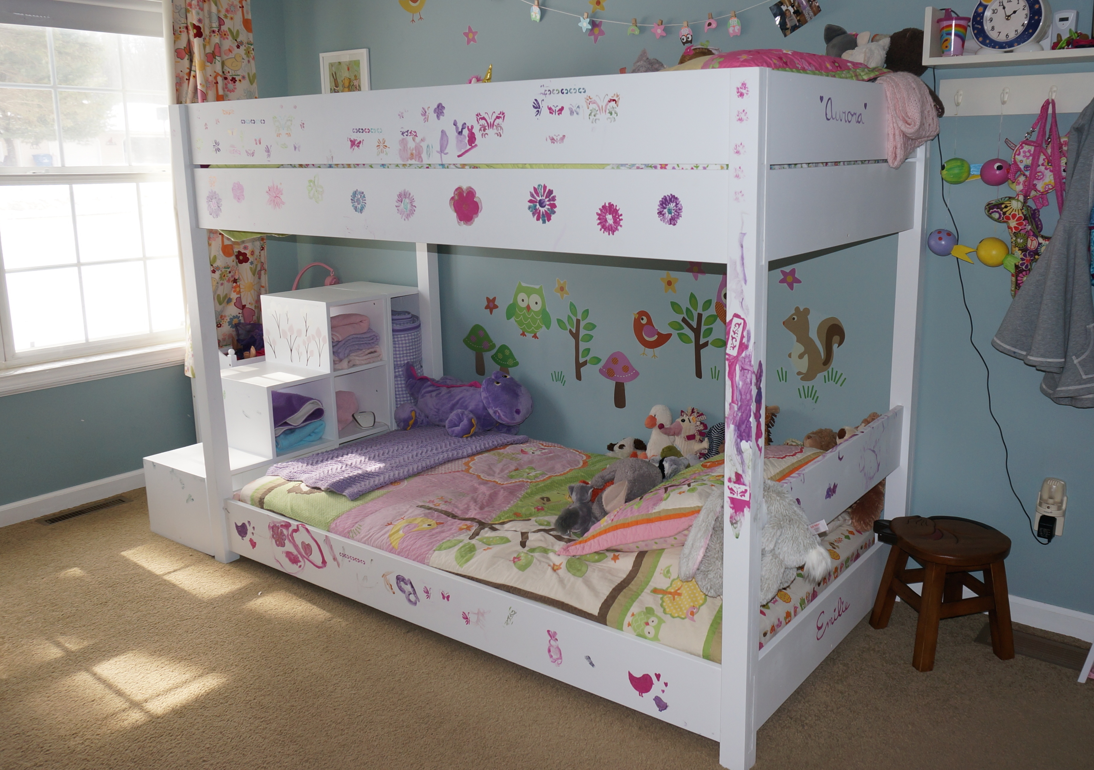 Image of: Kids Loft Bed With Storage Accessories