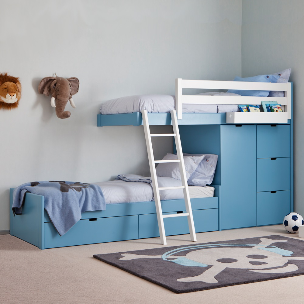Image of: Kids Storage Bunk Beds