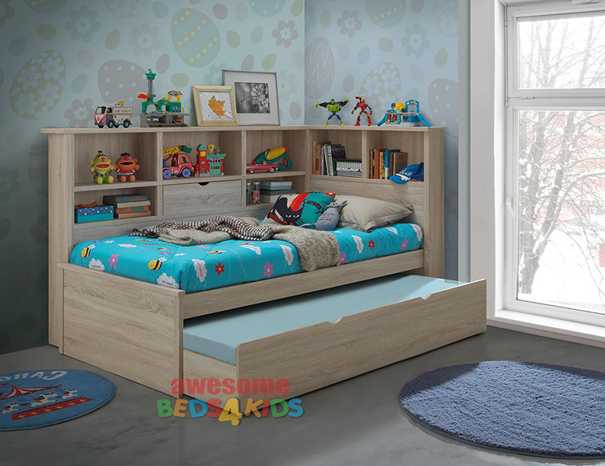 Kids Twin Bed With Trundle And Storage