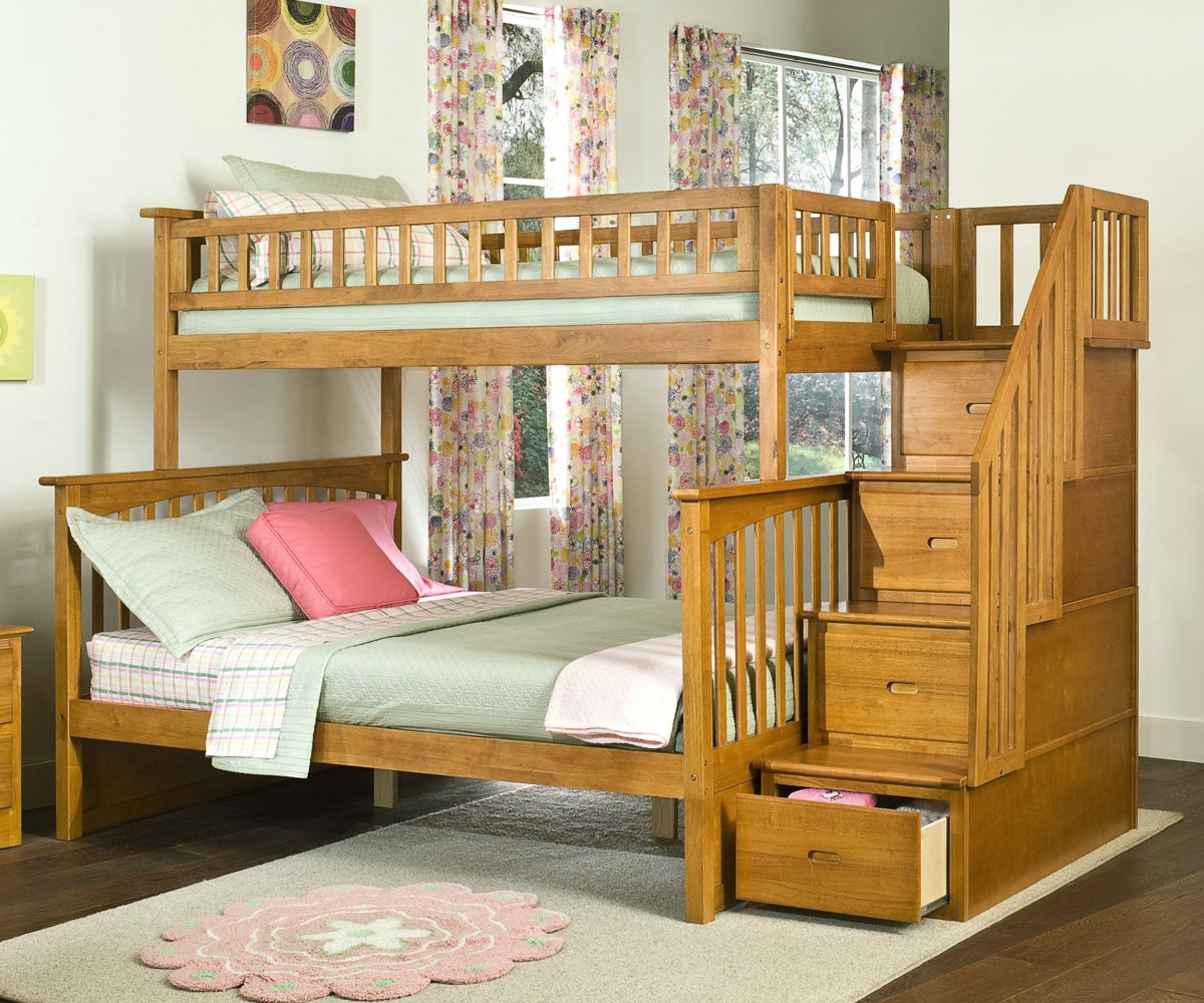 Picture of: Kids Twin over Full Bunk Bed with Storage