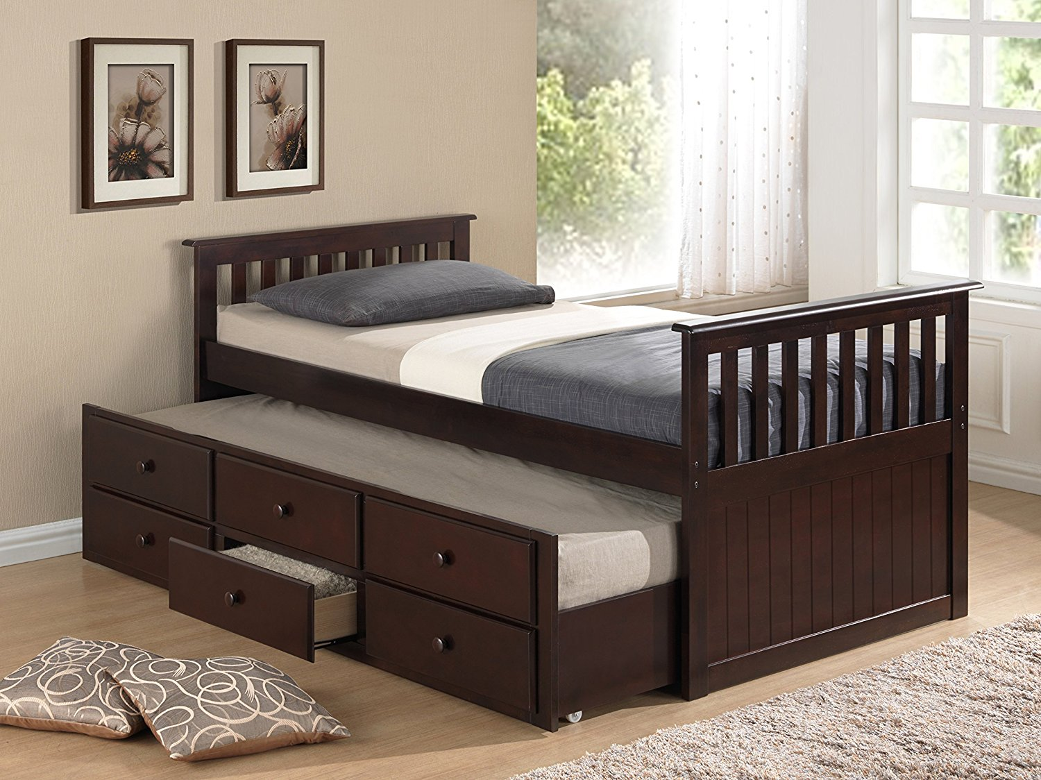 Image of: King Beds with Storage Drawer