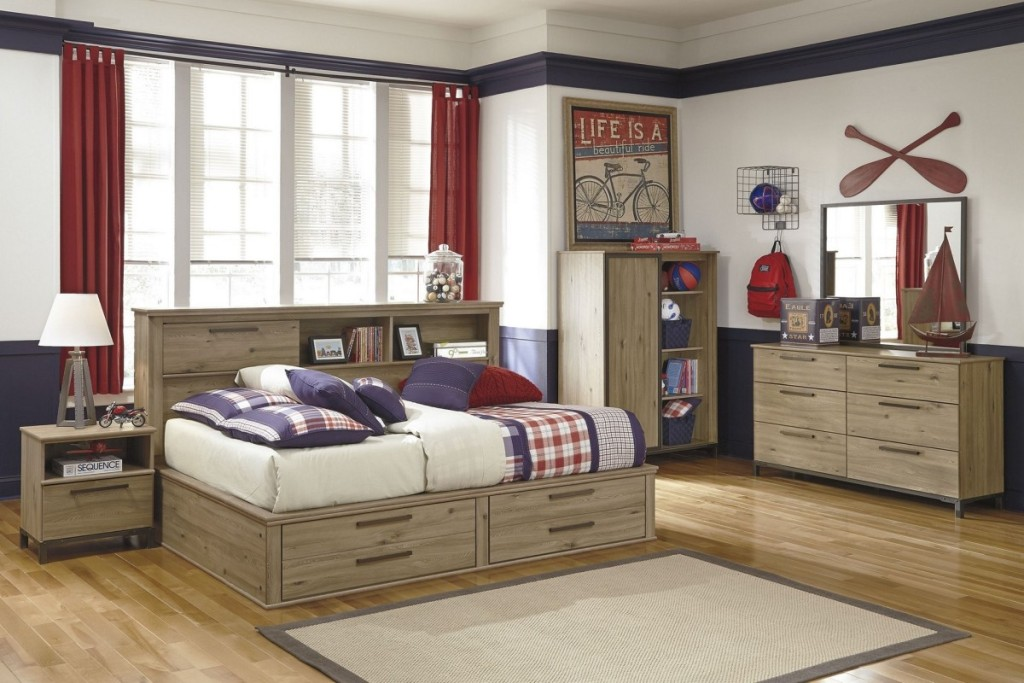 Image of: King Beds with Storage Wood