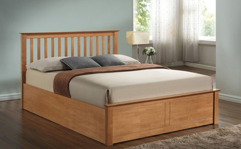 Image of: King Size Ottoman Storage Bed