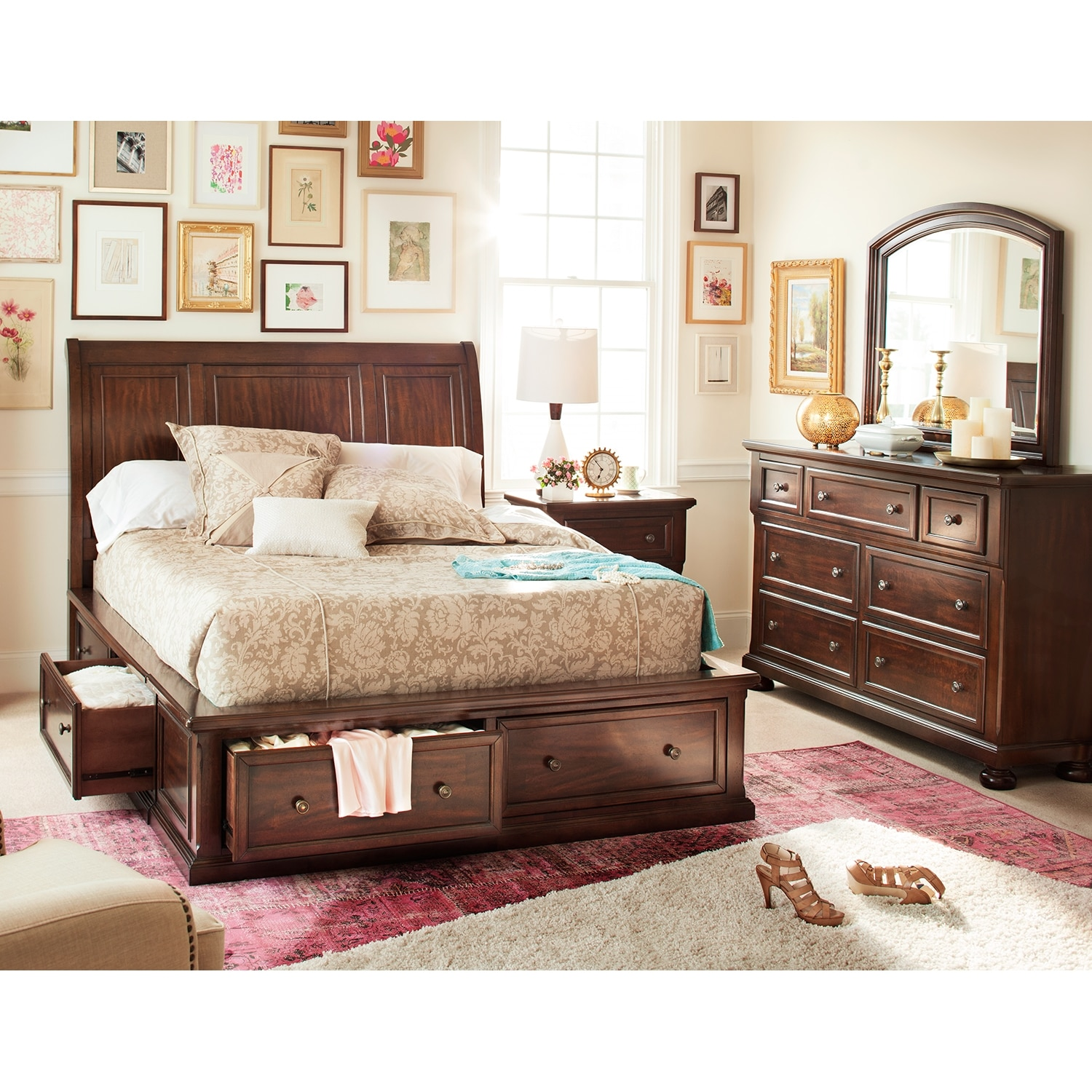 Image of: King Storage Beds Ideas